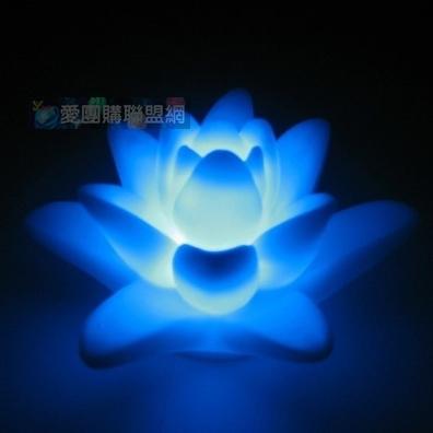 led入水发光七彩莲花灯|莲花浮水灯|莲花漂流许愿灯 量大可议价